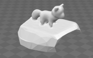 I managed to make a 3D model of a fox using 32 still images.